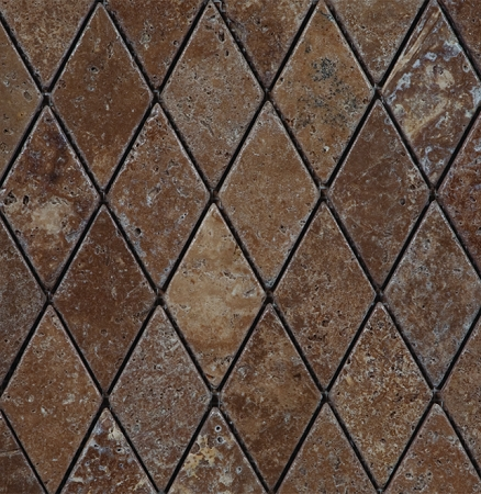 Noce Rhomboid Travertine Mosaic