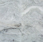 Silver Travertine | 12x12 | Filled | Polished
