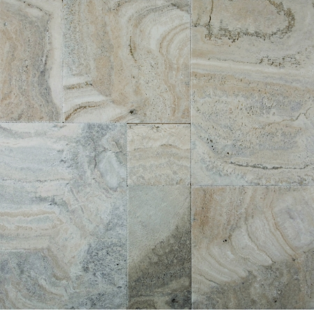 Philadelphia Travertine | Chiseled Edge | Versailles Pattern | Brushed