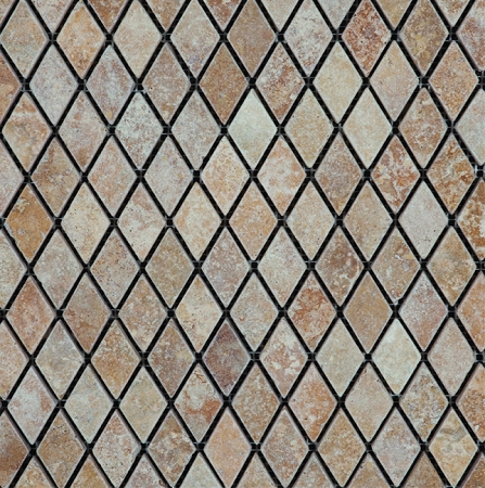 Rhomboid Golden Sienna Stone Tile Mosaic | 1x1 | Tumbled