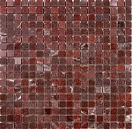 Marble Mosaic | Rosso Luna | 5/8x5/8 | Polished