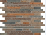 Rustic Creek Stone Mosaic Backsplash