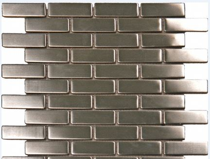 Silver Metal Brick Backsplash
