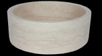 Travertine Round Straight Ivoria 18