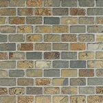 Butterscotch Slate | Mosaic | 1x2 | Tumbled