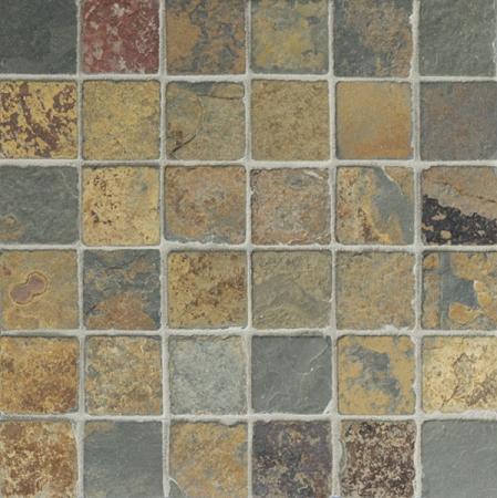 Butterscotch Slate Mosaic 2x2 Tumbled