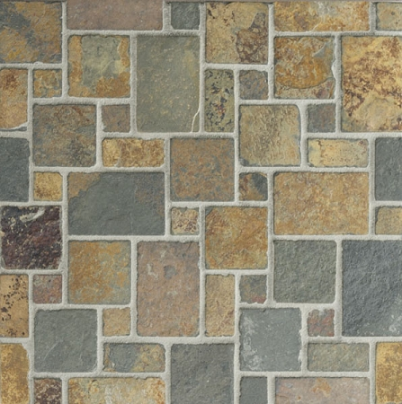 Butterscotch Slate Mini Versailles Mosaic Tumbled