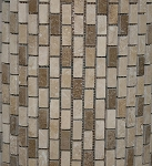 Stone Mosaic | Noce Chiaro Mini Brick Pattern | Honed