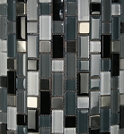 Glass & Metal Mosaic | Crystal Cove Blend