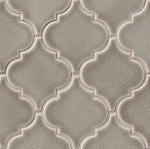 Dove Gray Arabesque Mosaic
