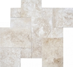 Tuscany Beige Travertine | Versailles Pattern | Straight Edge