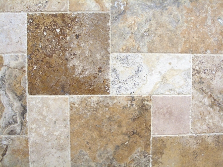Porcini Travertine Versailles Pattern Tile