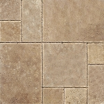 Tuscany Chocolate Travertine | Versailles Pattern