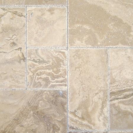 Tuscany Walut Onyx Travertine Versailles Pattern Tiles