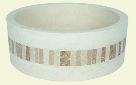 Travertine Round Design Ivoria 16