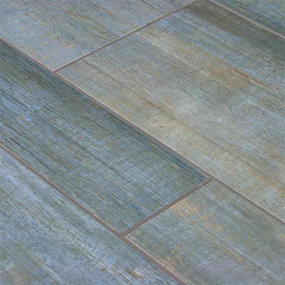 Blue Wood Plank Porcelain Tile