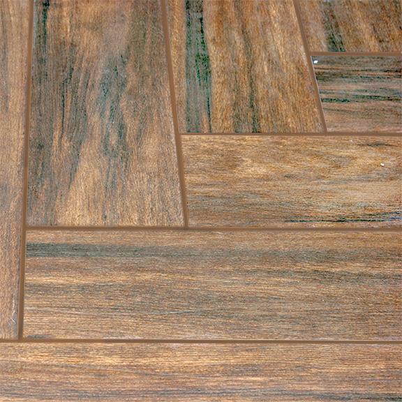 Botanica Teak 6x36 Wood Plank Porcelain