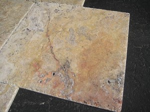 Scabos Travertine | Chiseled Edge | Versailles Pattern | Brushed