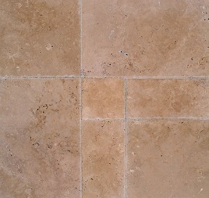 Cappuccino Travertine | Versailles Pattern | Tumbled