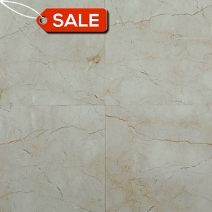 Crema Marfil Classic Marble | 3/8 Thick | 18 x 18 | Polished (WAREHOUSE CLEARANCE SALE)