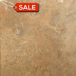 Desert Blend Travertine Filled 18x18 Honed Warehouse Clearance