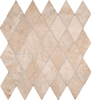 "Durango Cream 2"" Rhomboids Backsplash"