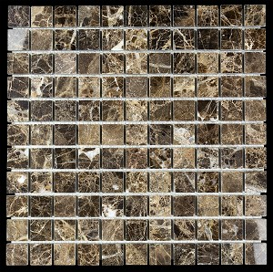 Emperador Mosaic 1x1 Polished