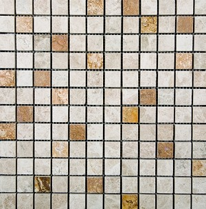 Emperador Light Gold Polished Marble | 1x1 | Mix