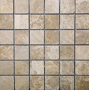 Emerador Light Stone Tile Mosaic 2x2