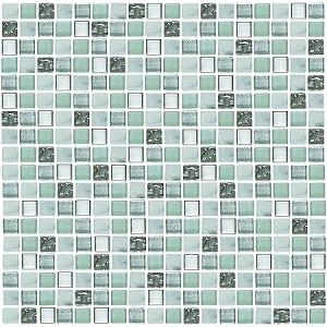 Glass & Stone Mosaic | Aqua | GS5009