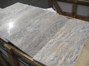 Silver Travertine Vein Cut 12x24 Filled High Honed