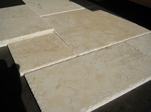 Dorado Limestone | Versailles Pattern | Chiseled | Filled | Brushed