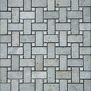Noce Light Basket Stone Mosaic