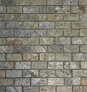 Golden Green Slate Mosaic 1x2 Tumbled