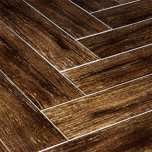 Prestige Walnut 6x24 Polished Wood Plank Porcelain Tile