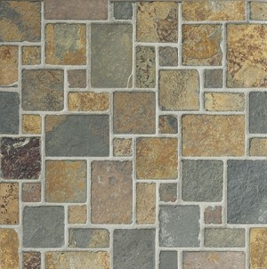 Butterscotch Slate | Mini Versailles Mosaic | Tumbled
